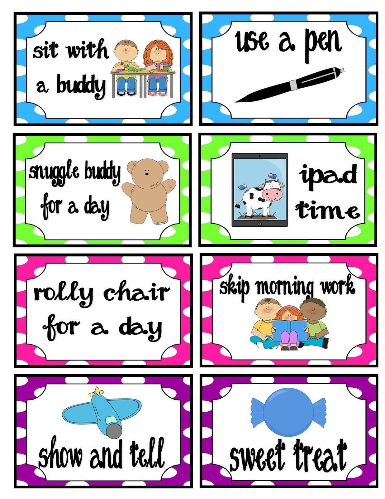 Classroom Behavior Ticket Template