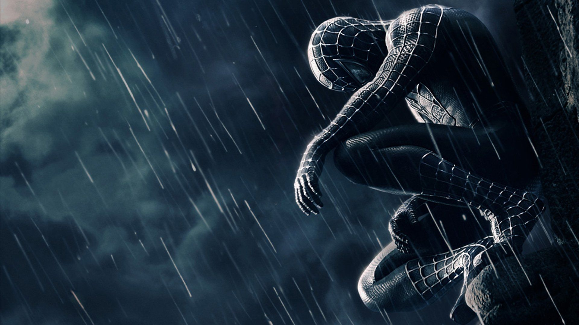 black spiderman wallpaper full