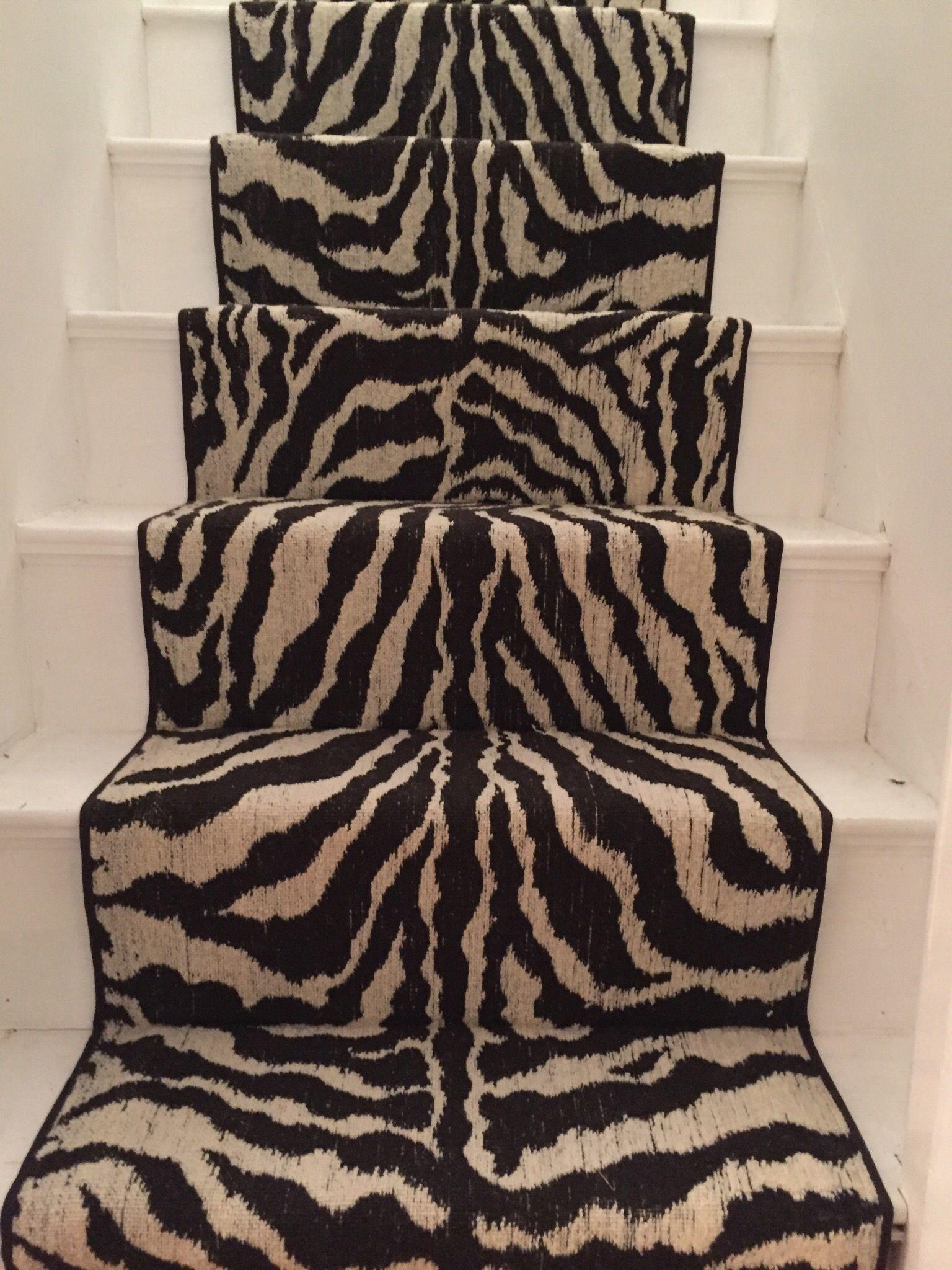 #Zebra Print #Animal Print Stair Runner Zebra Decorzebra Stuffstair Runnersstaircase Ideasanimal Print