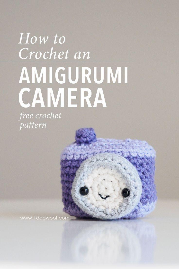 Amigurumi Camera Crochet Pattern #crochetcamera