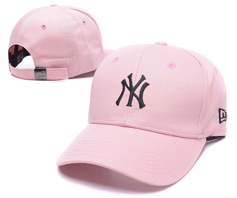 670cd5d9 Men's / Women's New York Yankees New Era Basic Team Logo Embroidery  Adjustable Baseball Hat - Pink / Black