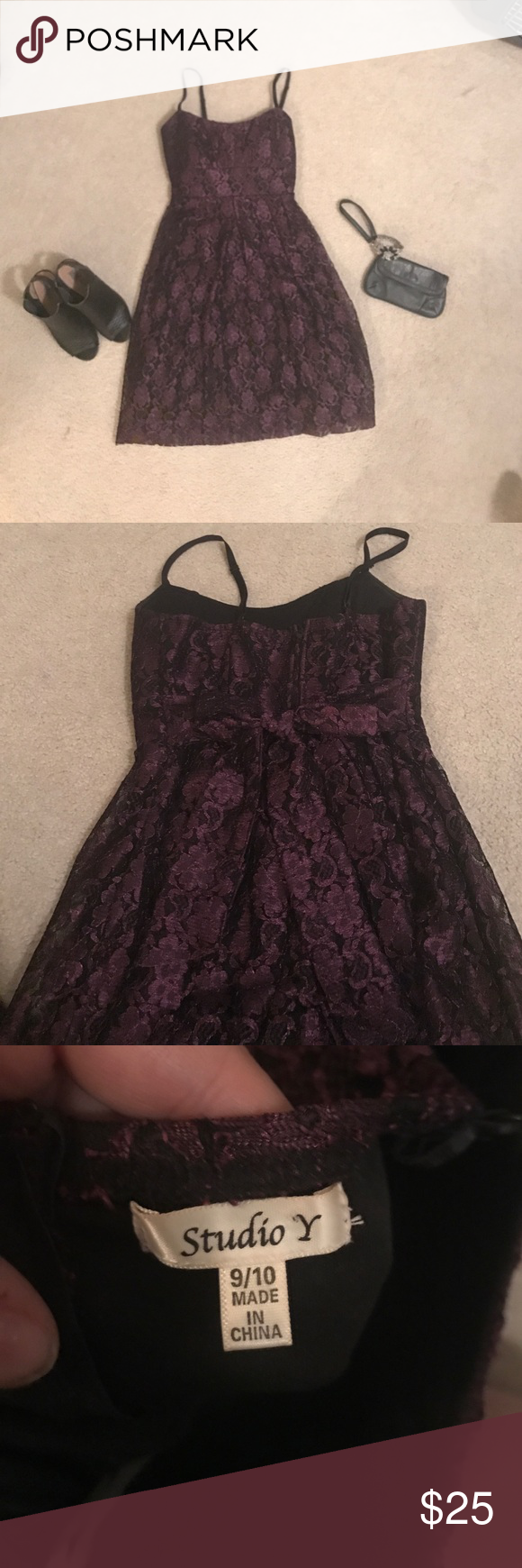 Fun, flirty Lacey dress! This lacy, flirty dress is perfect for date night and also for weddings. Rarely worn and in perfect condition. Don't let this one slip through your fingers! Listed as a 9/10 Studio Y Dresses