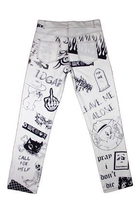 Photo of LEAVE ME ALONE Tattoo Jeans