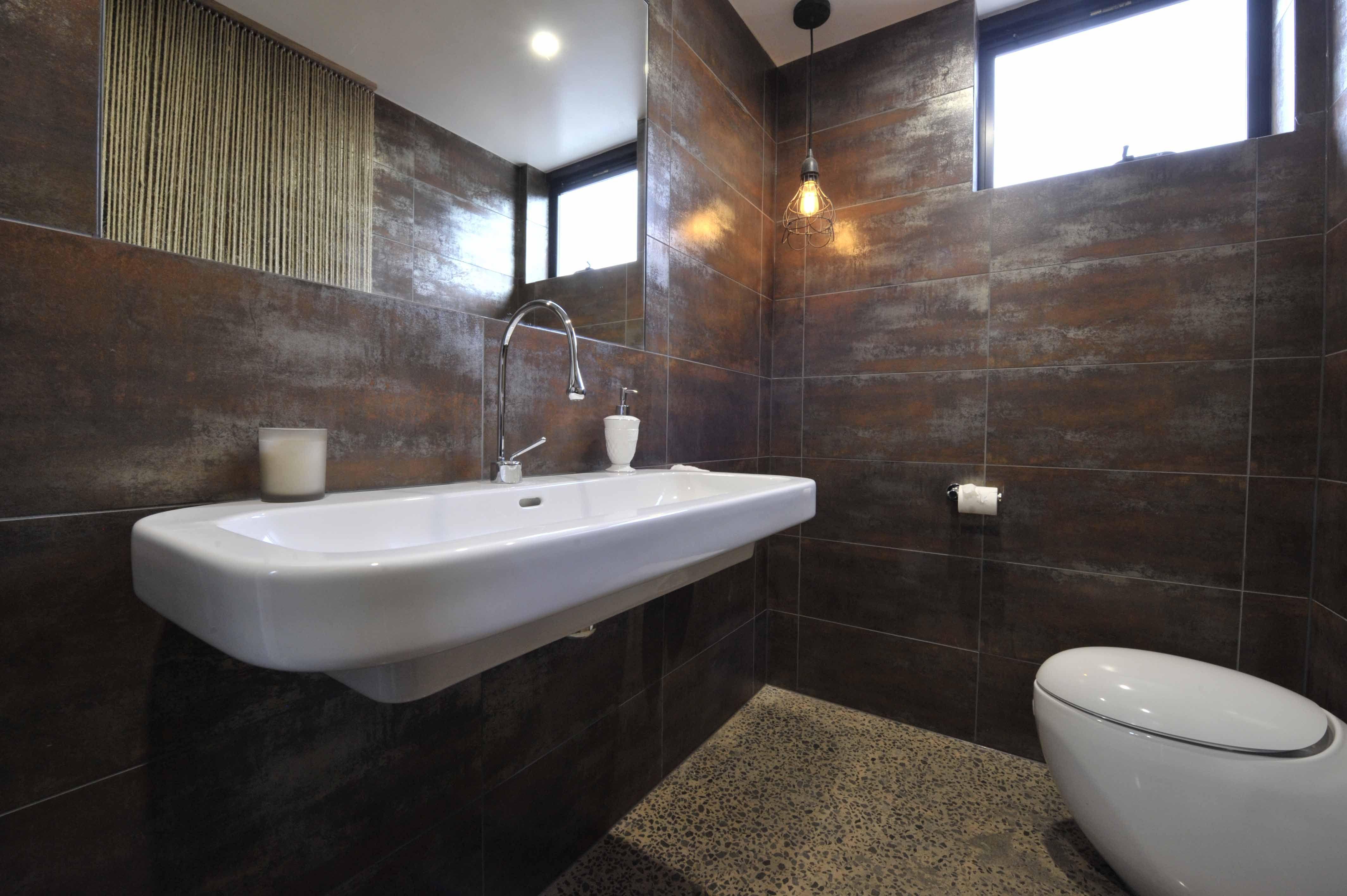 Alisa lysandra ground floor powder room metallic rust 300x600 ground floor powder room metallic rust 300x600 tile dailygadgetfo Choice Image