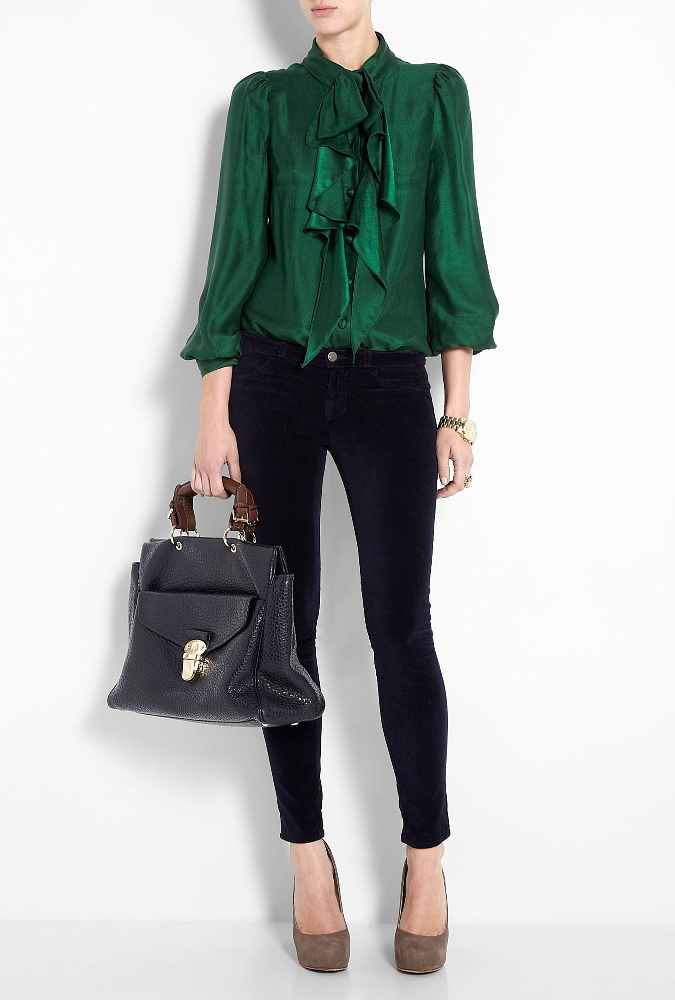 Wish I actually had this Milly blouse. Use Target forest