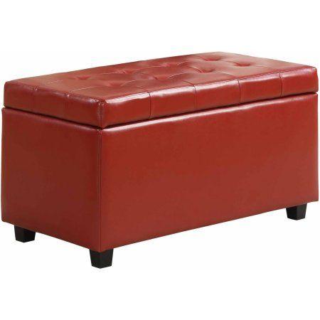 Home Storage Ottoman Bench Leather Storage Bench Ottoman Bench