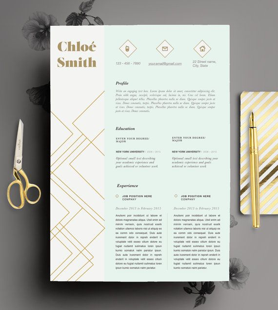 creative resume template editable in ms word and by cvdesignco  instant download on etsy