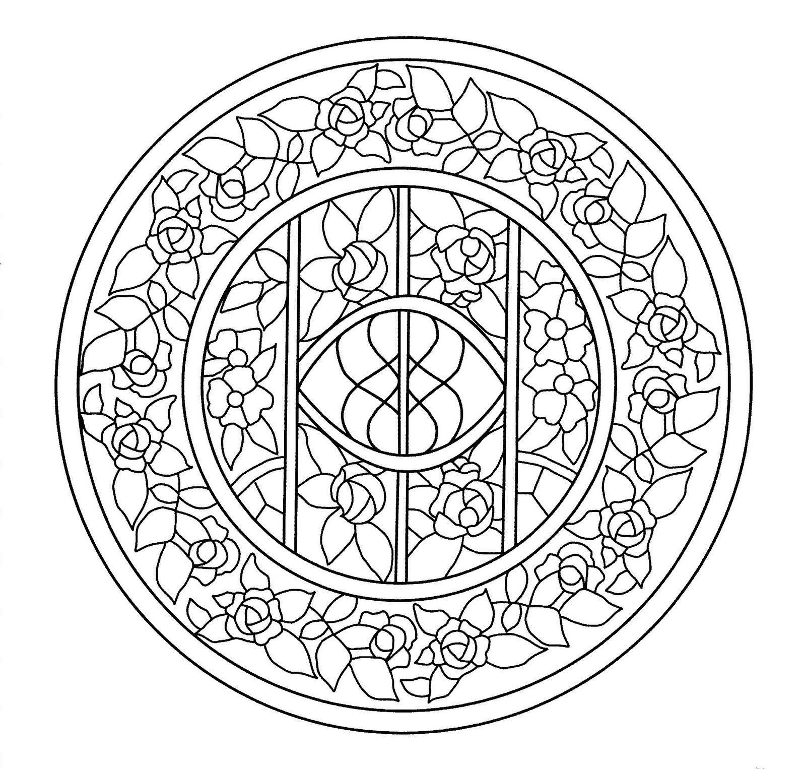 Mandalas Para Pintar: Vidriera de la Casa Navàs | Mandalas ...