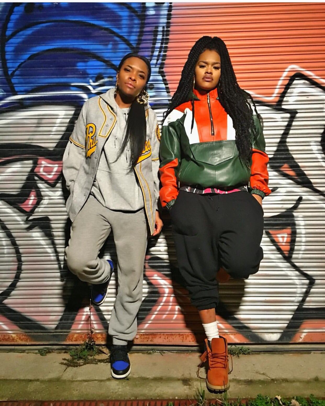 Teyana and friend street style inspiration | Tomboy ...