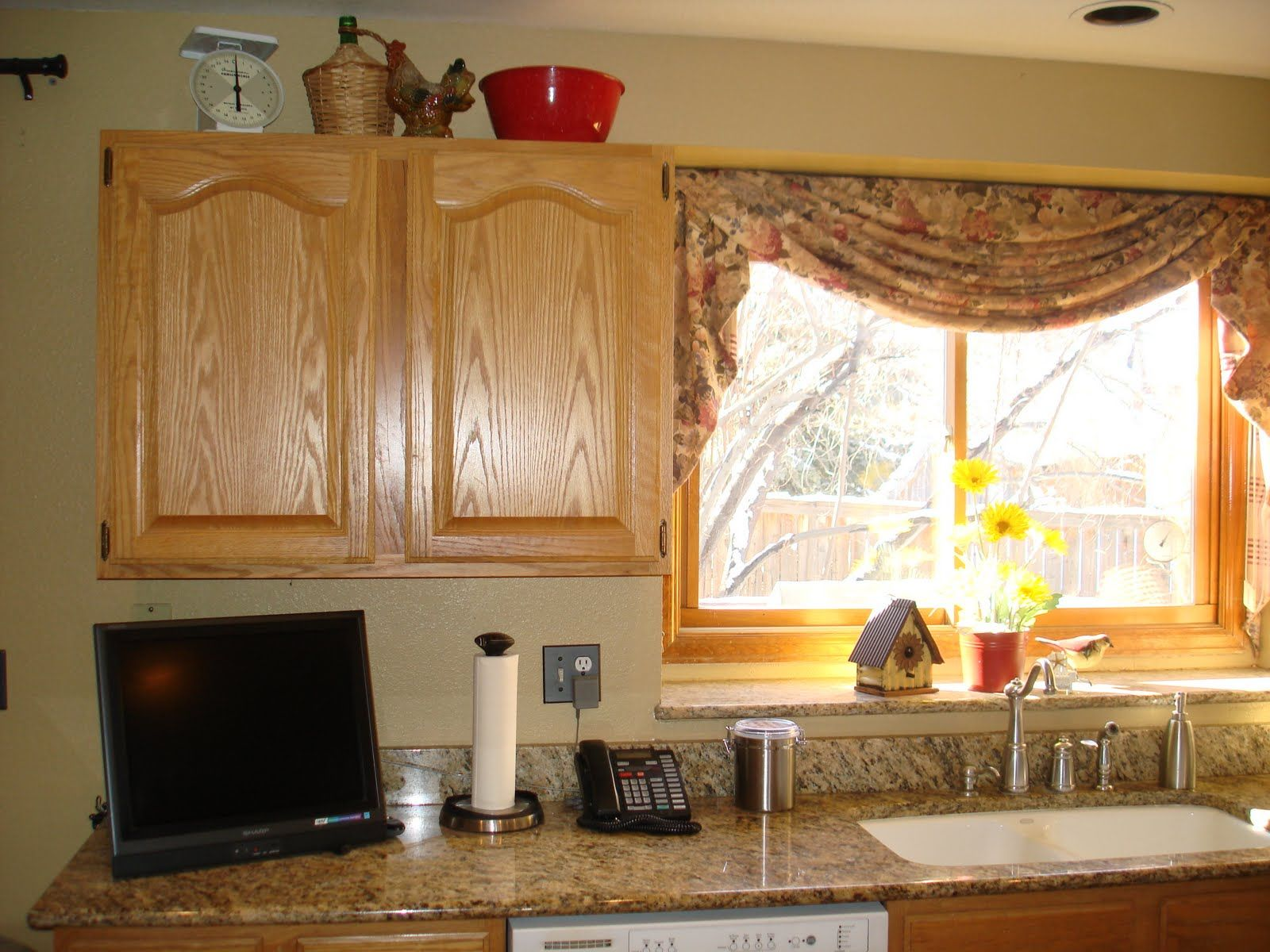 Kitchen Curtain Ideas: Kitchen Window Treatments Home Style ~ Country Kitchen  Curtains Inspiration