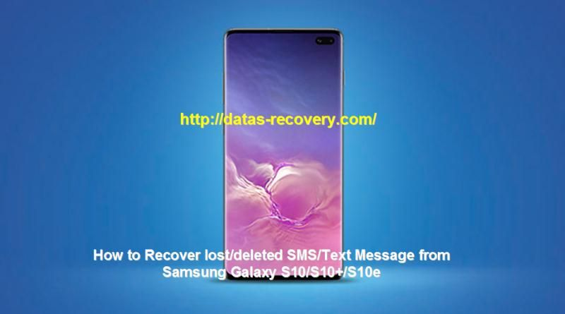 How to recover lostdeleted smstext message from samsung