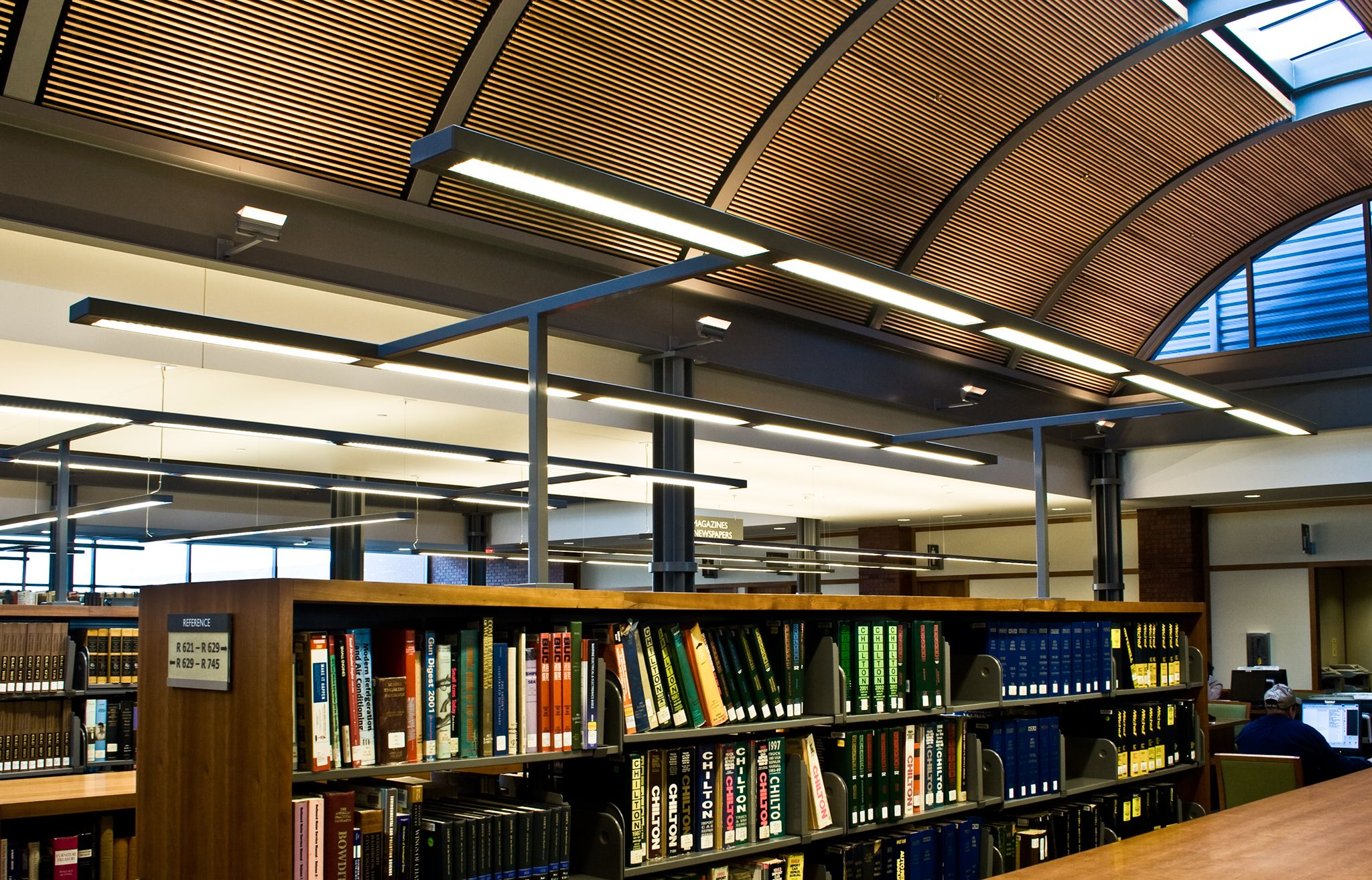 Library lighting design lighting design · libraries library