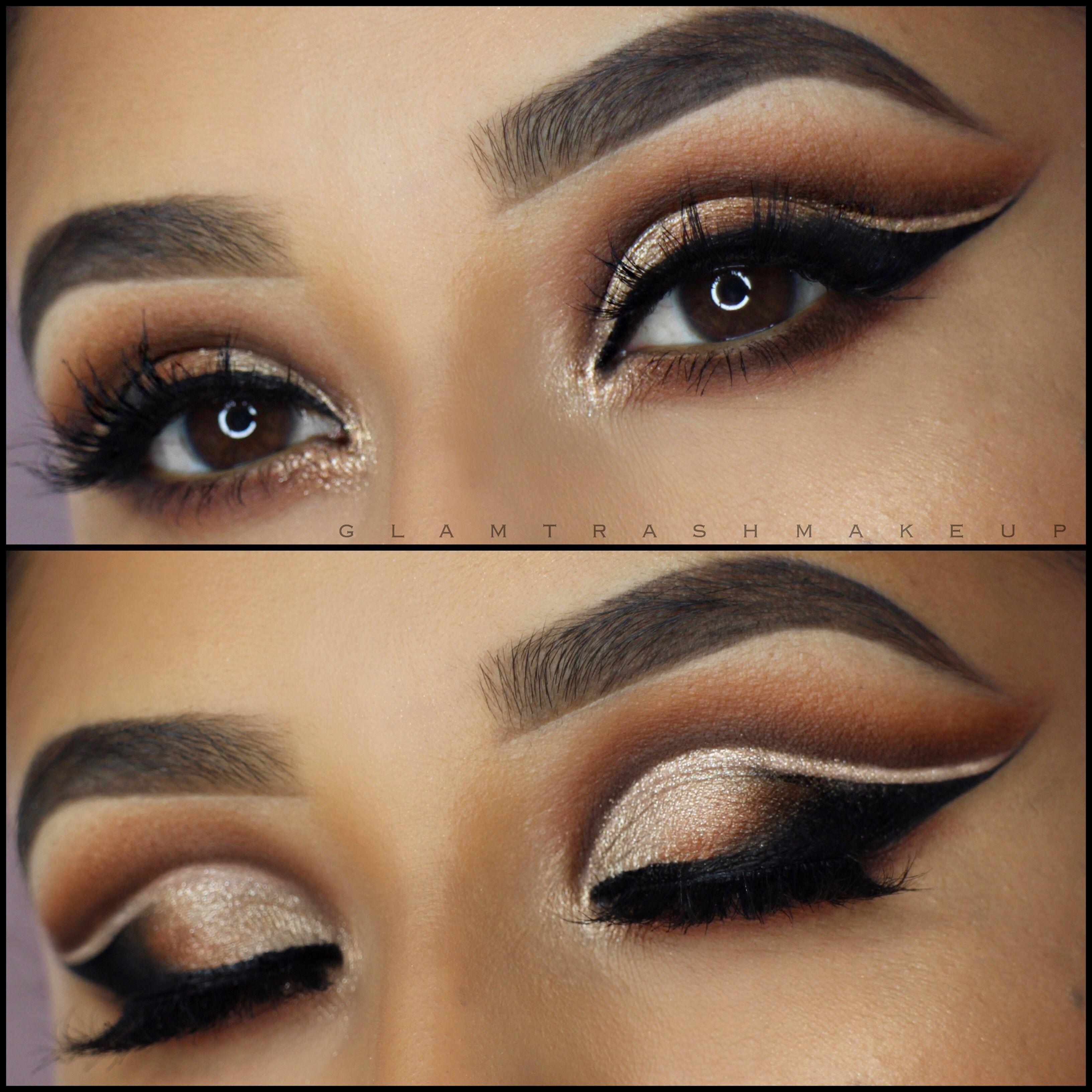 Dramatic Cut Crease Eyeshadow Reddish Brown Glamtrashmua
