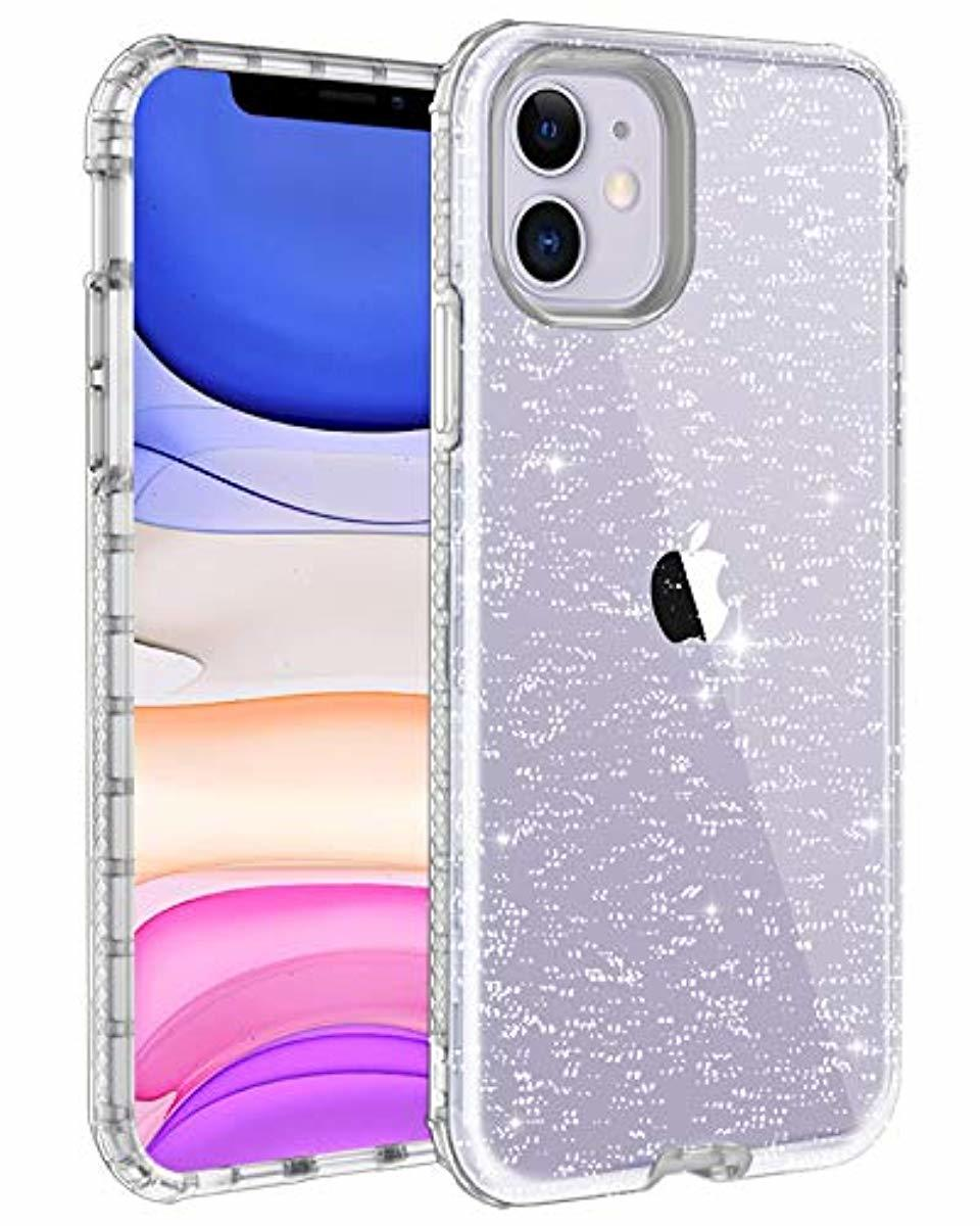 Lontect For Iphone 11 Case Glitter Crystal Clear Sparkle Bling Heavy Duty Hybrid Sturdy Armor High Impact Shockproof Protective Cover Case For Apple Iphone 11 6 In 2020 Iphone 11 Iphone Pretty Iphone Cases