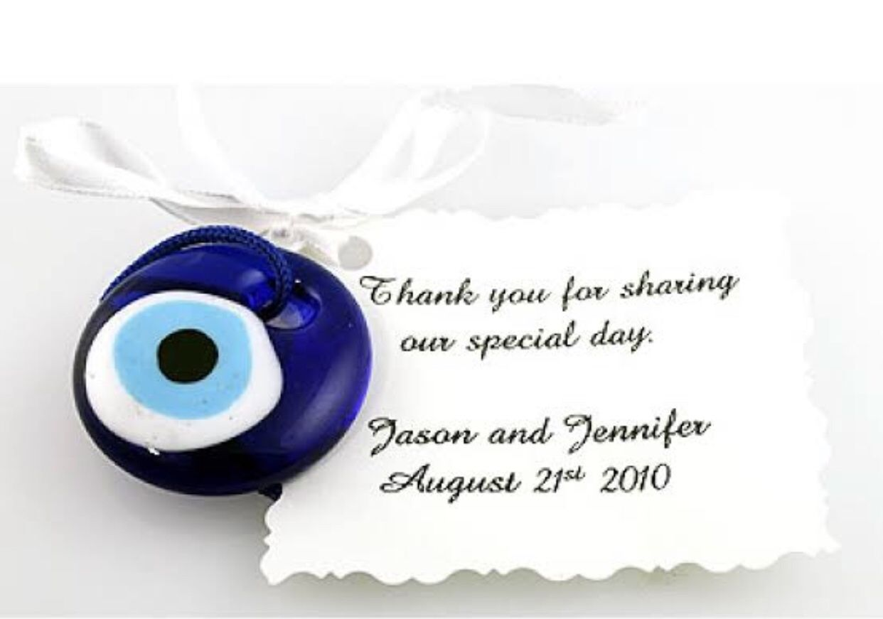 5pcs Unique wedding favors - evil eye bead 3.5cm with card - nazar boncuk - turkish evil eye bead - personalized wedding favors - bulk gifts #personalizedweddingfavors