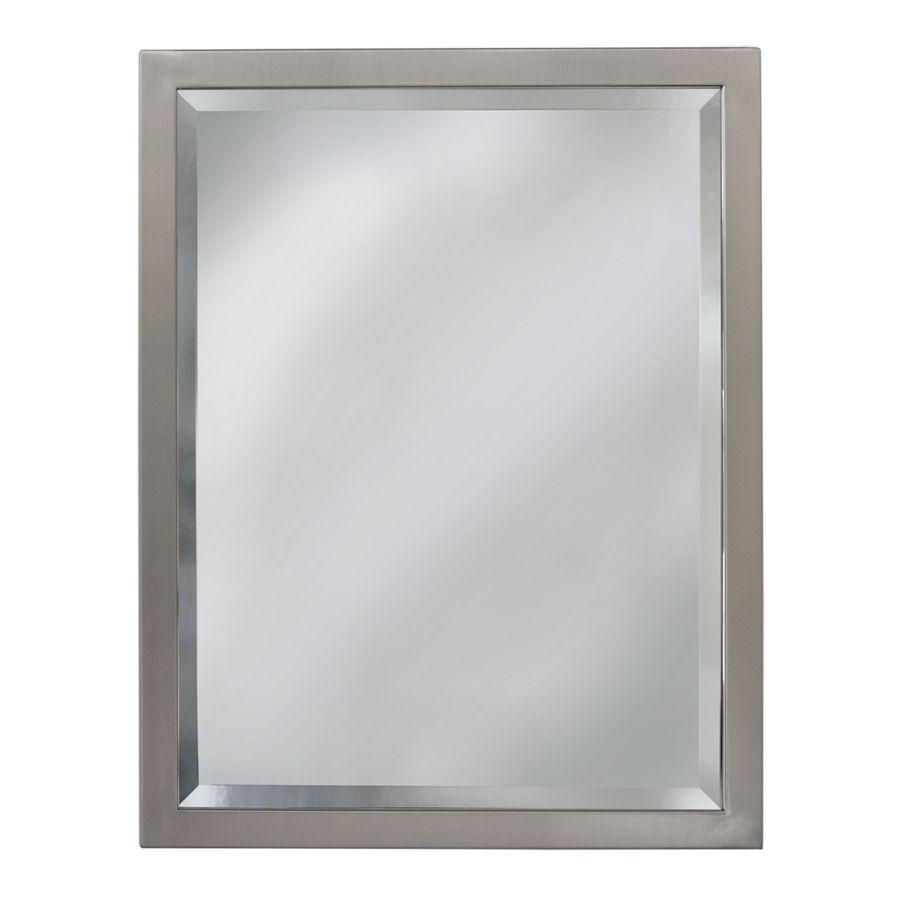 Pic Of allen roth W x H Brush Nickel Rectangular Bathroom Mirror Upstairs bathroom