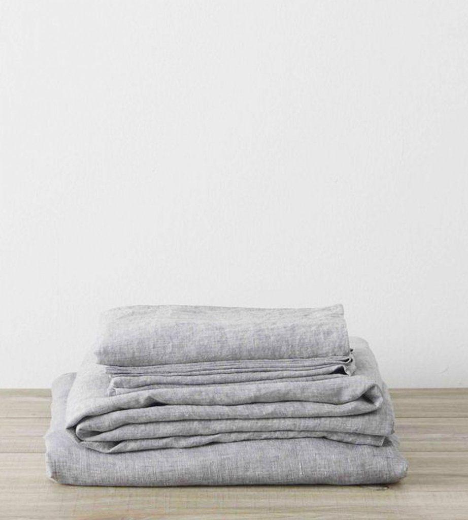 Cultiver linen sheet set ash linen sheets sheet