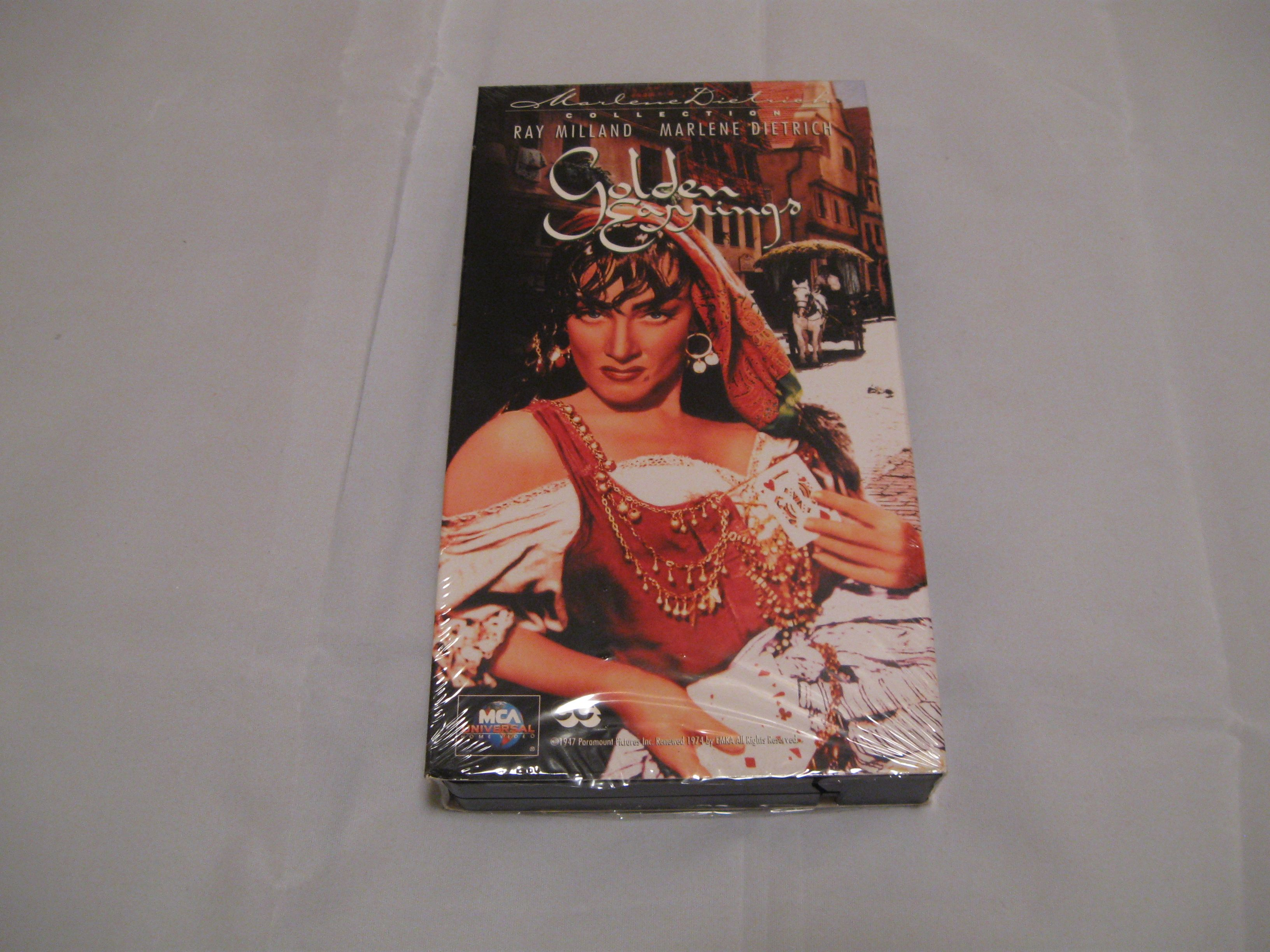 A Vhs Video Of The 1947 Movie Golden Earrings Starring Ray Milland And  Marlene Dietrich In