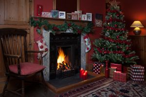 Ty Tal Christmas shot #press #pr #Christmas #fire #holidaycottage #brecon #breconbeacons #breconbeaconsholidaycottage