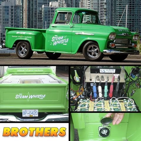 This Very Green 1958 Chevy Shortbed Stepside Truck Is 100 Electric Its Ac Motor Ed By 24 Lithium Ion Batteries And Has A Range Of 90 Miles