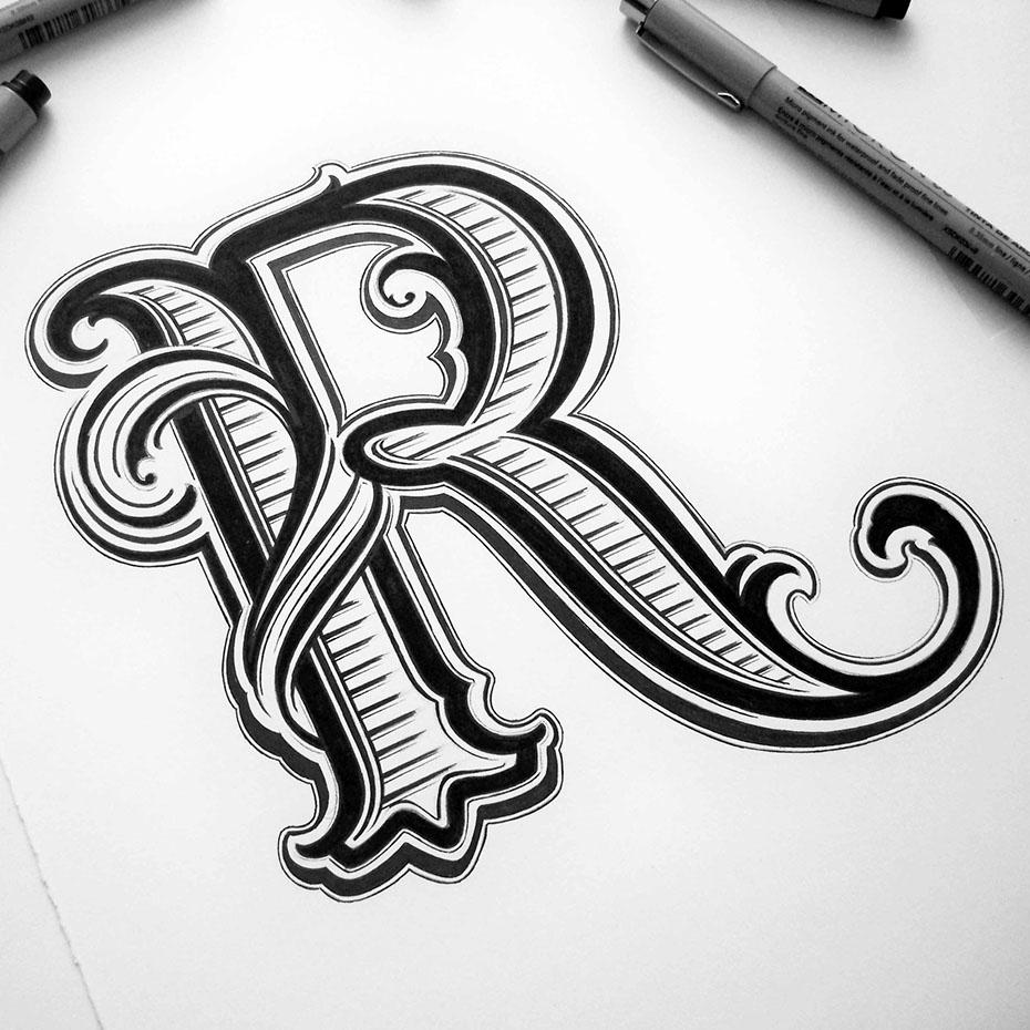 #R #typographie #lettre #alphabet