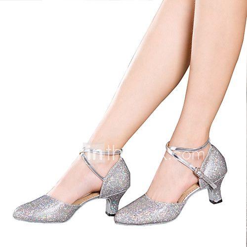 07083d01b Sapatos de Dança(Preto / Prateado / Dourado / Multicolorido) -Feminino-Não