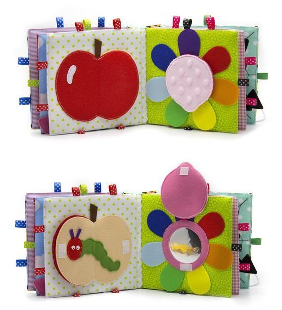 Bébé livre calme 10 pages Montessori jouets de motricité fine Premier textile sensoriel occupé livre éducatif cadeau éducatif pour les enfants #sensorythings