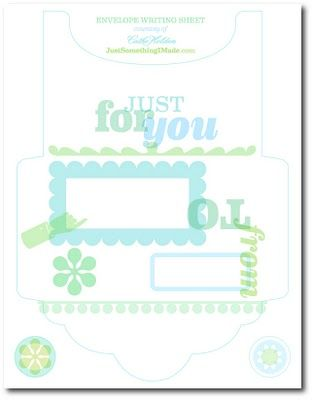 All-In-One Letter/Envelope Free Downloadable - Print, Jot A Note