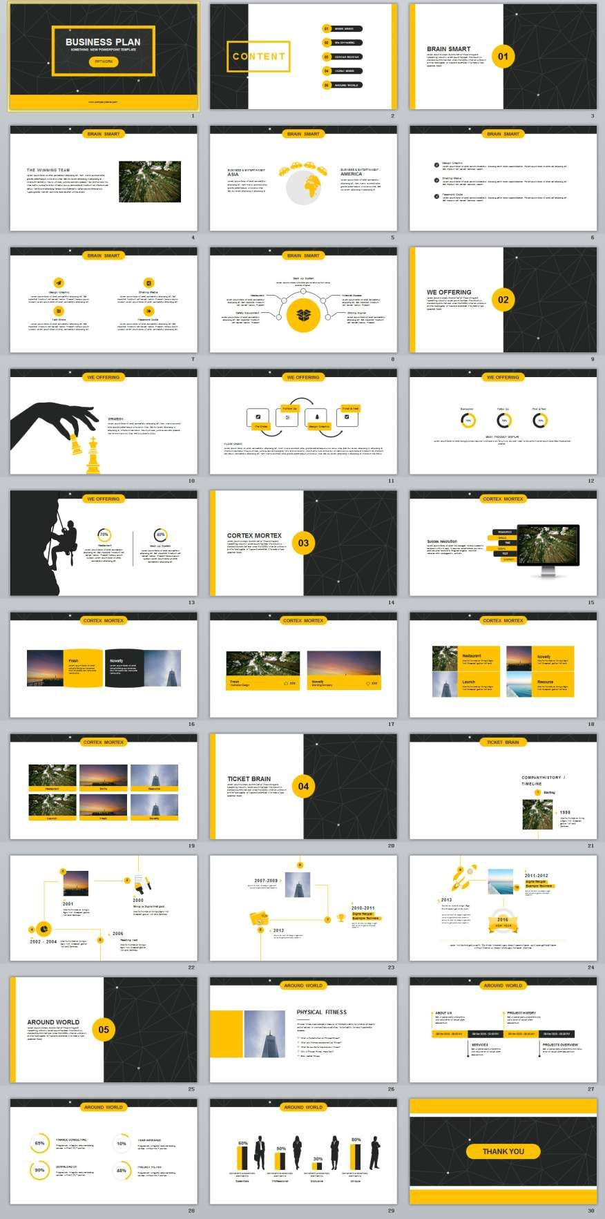 30 yellow business plan powerpoint templates planejamento 30 yellow business plan powerpoint templates toneelgroepblik Choice Image