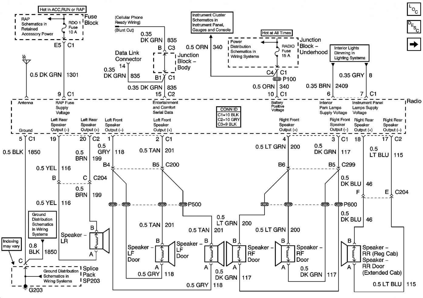 [SCHEMATICS_4ER]  Pin on Radio | 03 Gmc Wire Diagram |  | Pinterest