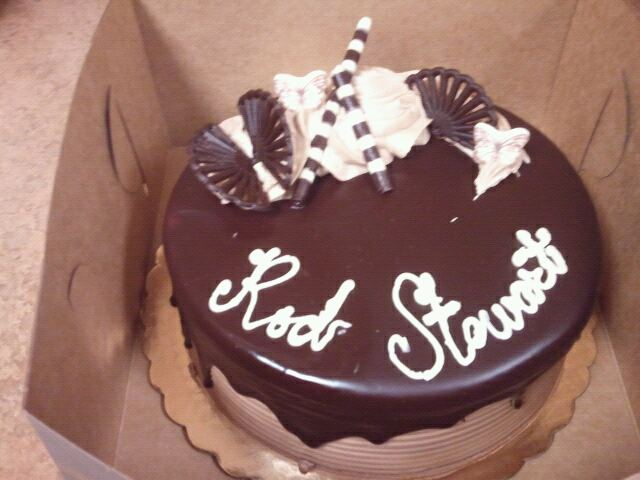 Surprising My Super Awesome Rod Stewart Birthday Cake From Whole Foods Personalised Birthday Cards Rectzonderlifede