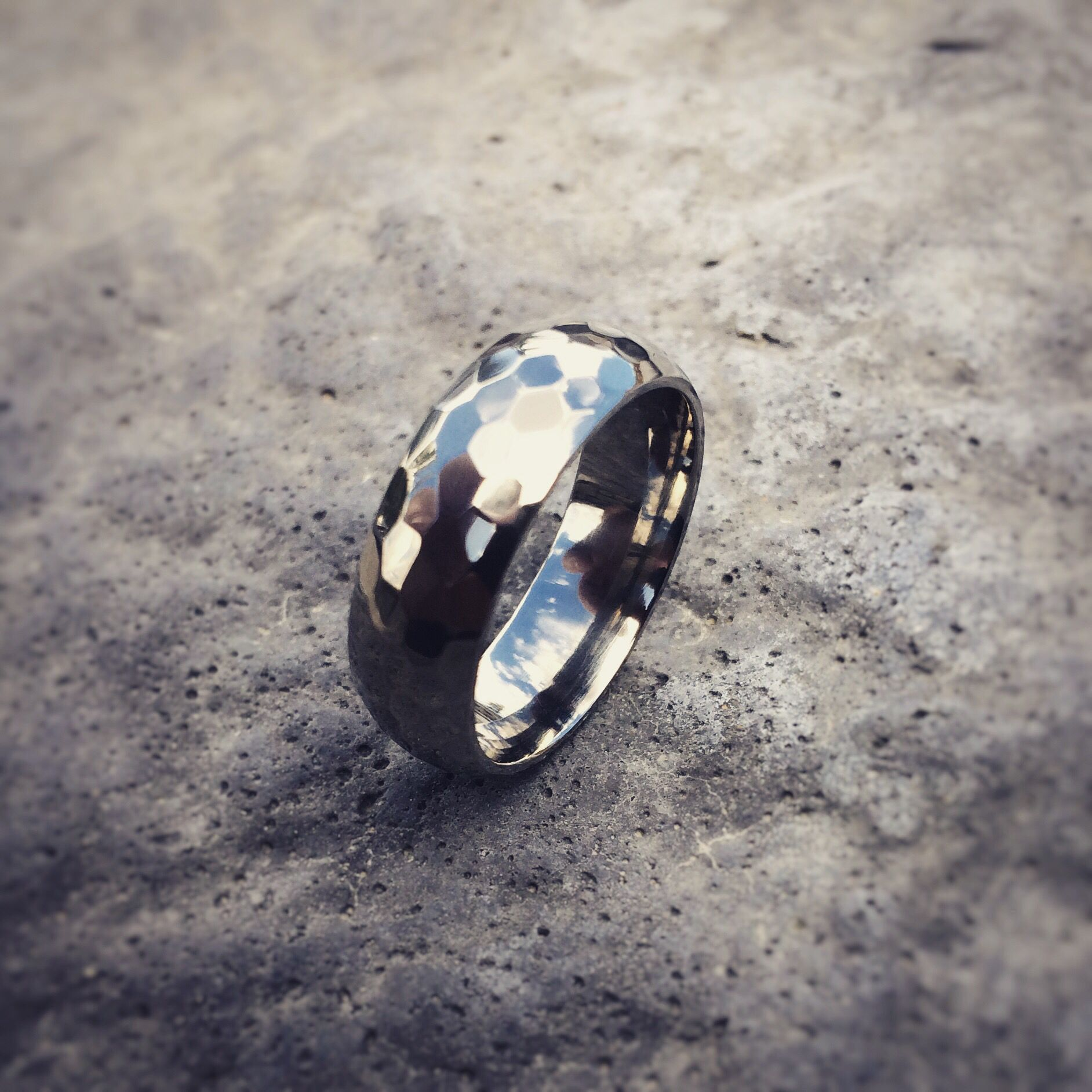 #handcrafted Percival Light polished #mensring #titanium.  Whole collection at titaniumrings.com/mens
