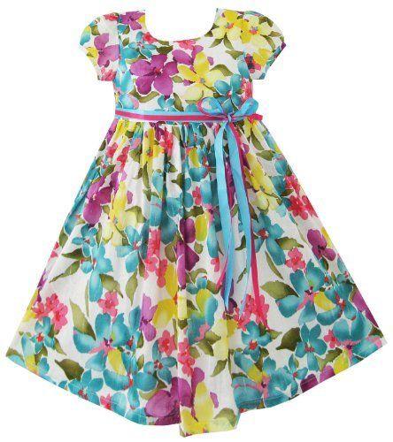 Girls Dress Blue Sundress Party Halloween Kids Clothes Size 2-10 New Sunny Fashion, http://www.amazon.com/dp/B009TGUGIM/ref=cm_sw_r_pi_dp_iUGKqb1TTYSWR