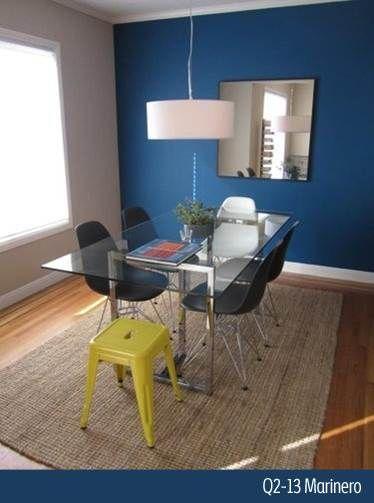 Dale un toque especial a tu oficina con este azul marino for Decoracion petrole azul