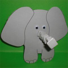 elefanten basteln basteln kindern pinterest elefant. Black Bedroom Furniture Sets. Home Design Ideas