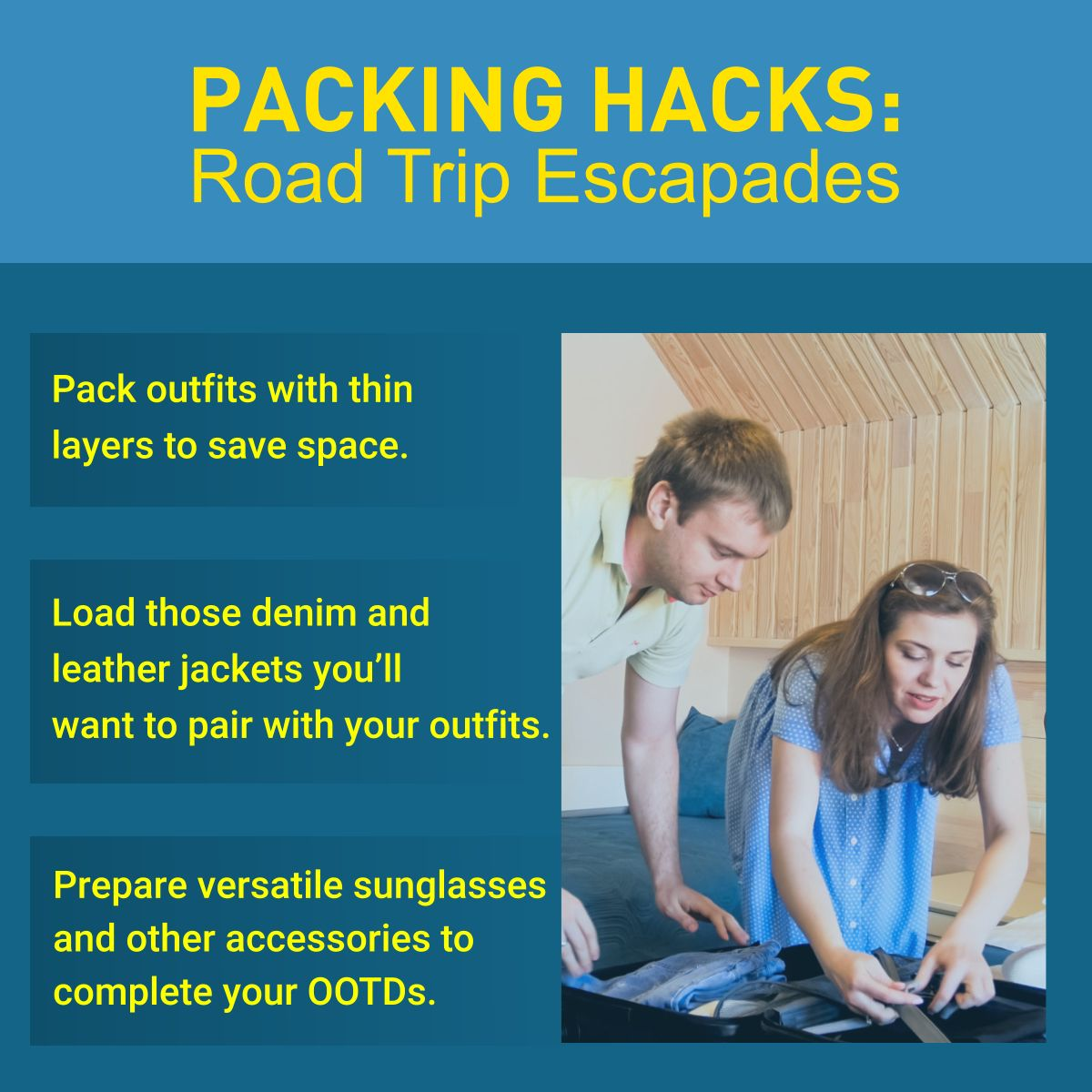 Packing Hacks Road Trip Escapades Outfits Denim Ootd
