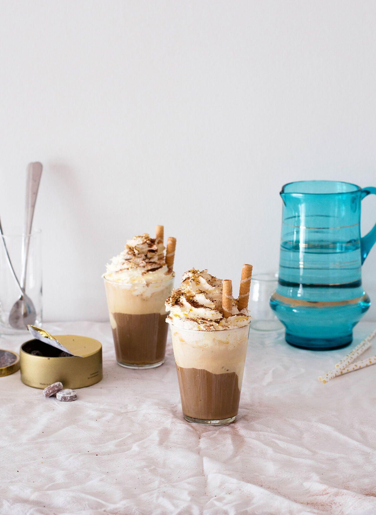 Ice cream iced coffee with whipped cream Recipe Iced