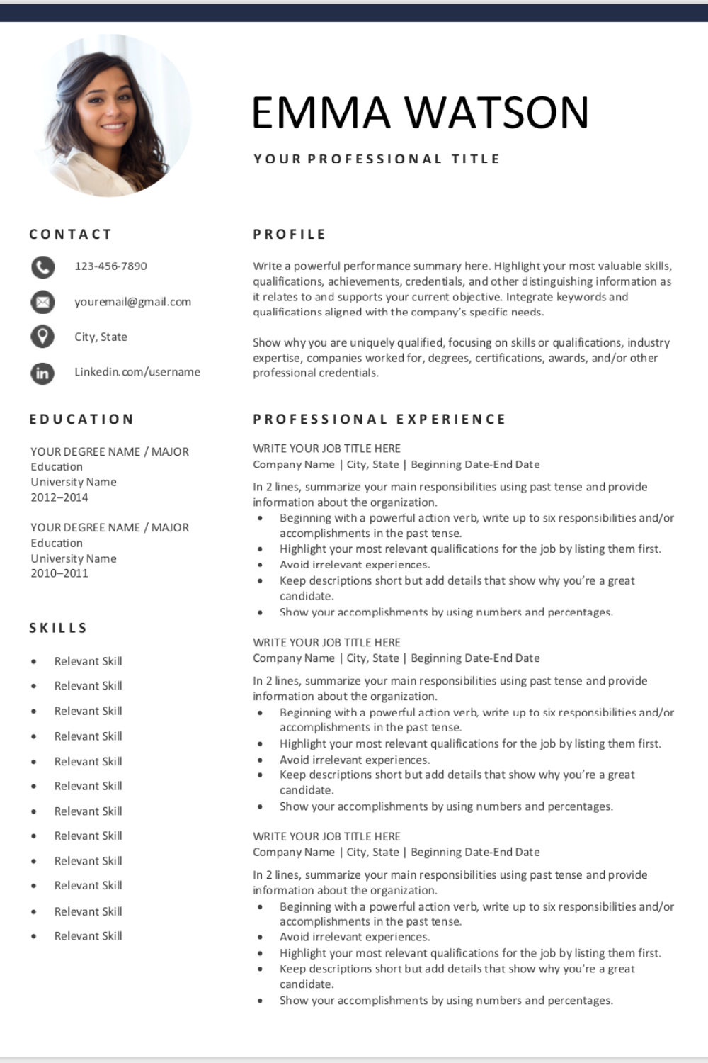 Free Resume Template Downloadable Resume Template Basic Resume Resume Examples