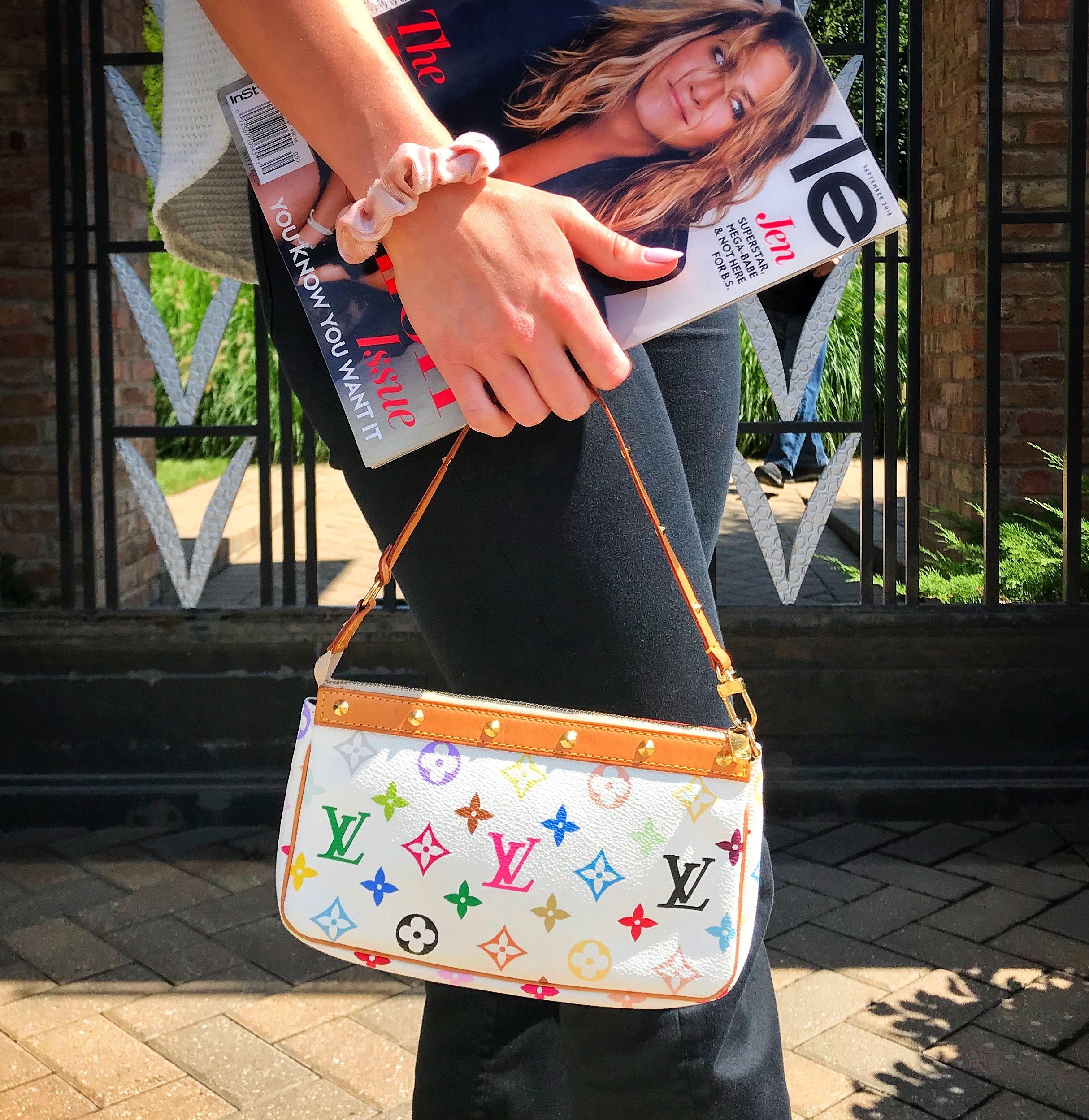 Louis Vuitton Multicolor Monogram Pochette In 2020 Louis Vuitton Multicolor Vintage Louis Vuitton Handbags Louis Vuitton Handbags