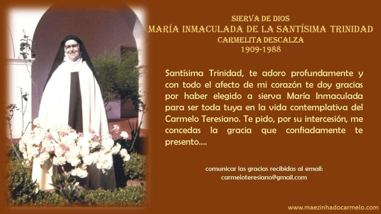 María Inmaculada de la Santísima Trinidad, Carmelita Descalza, fundadora del monasterio de Pouso Alegre en Brasil