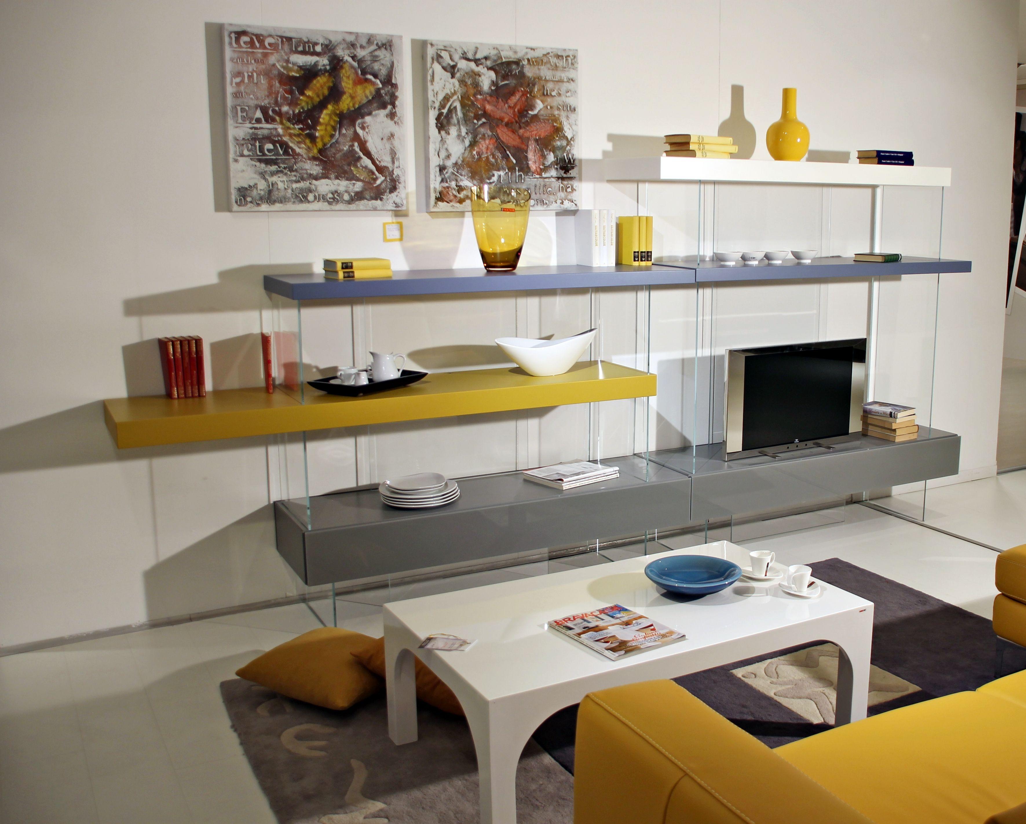 Libreria bifacciale air lago furniture soggiorni