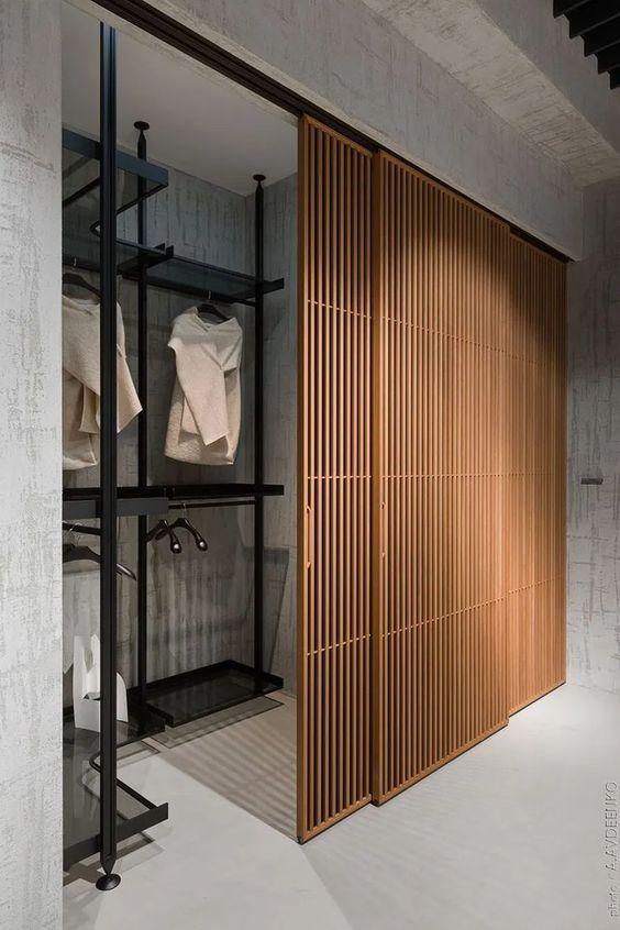 Photo of Wooden Slatted Closet Doors – 15 Interior Sliding Door Designs You'll Love