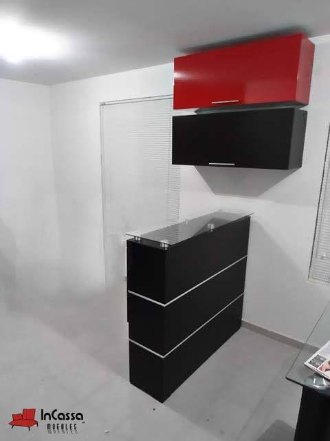cantina minimalista mod libia incluye barra y 2 muebles