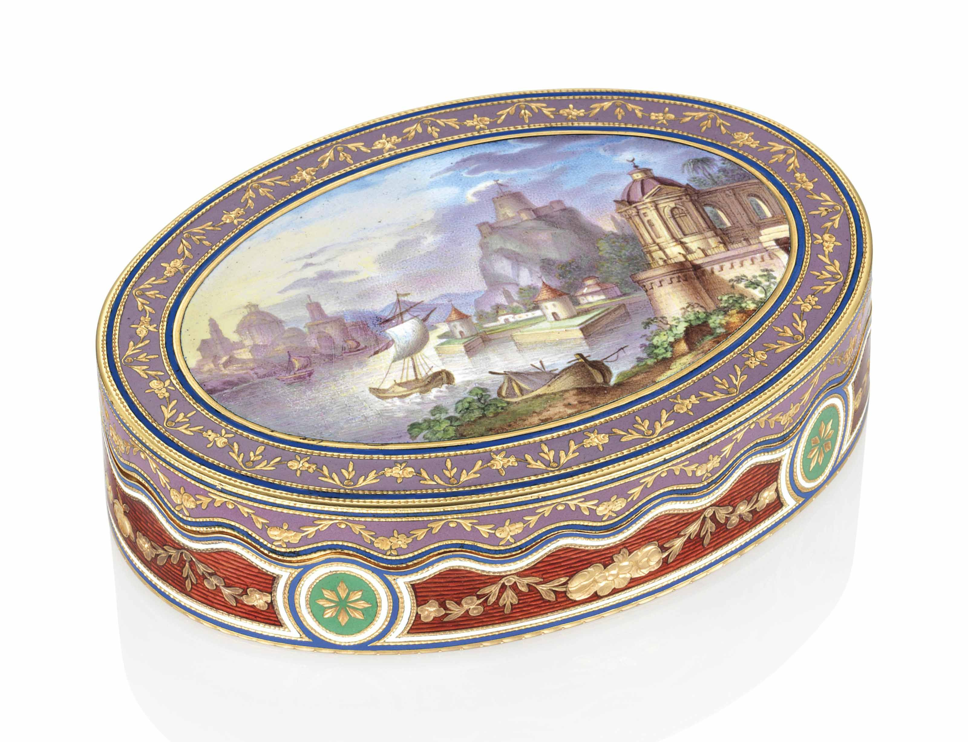 An Austrian Enamelled Gold Snuff Box By Josef Wolffgang Schmidt Fl 1769 1836 Marked Vienna Circa 1810 Price In 2020 With Images Antique Boxes Beautiful Box Decorative Boxes