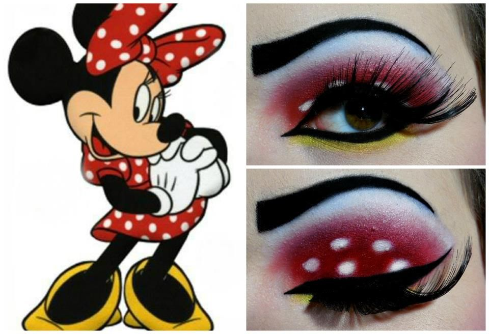 Minnie Mouse Eyeshadow Disney Inspired Makeup Disney Makeup Minnie Mouse Halloween