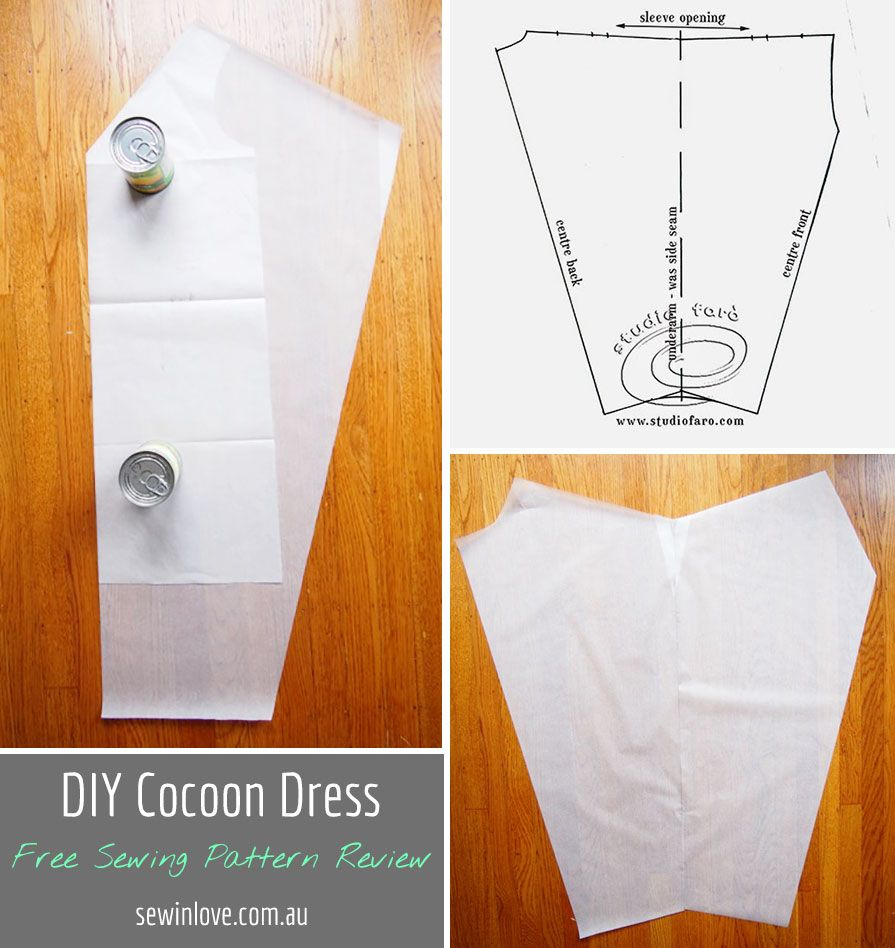 Cocoon Dress Free Sewing Pattern I Found This Free Sewing