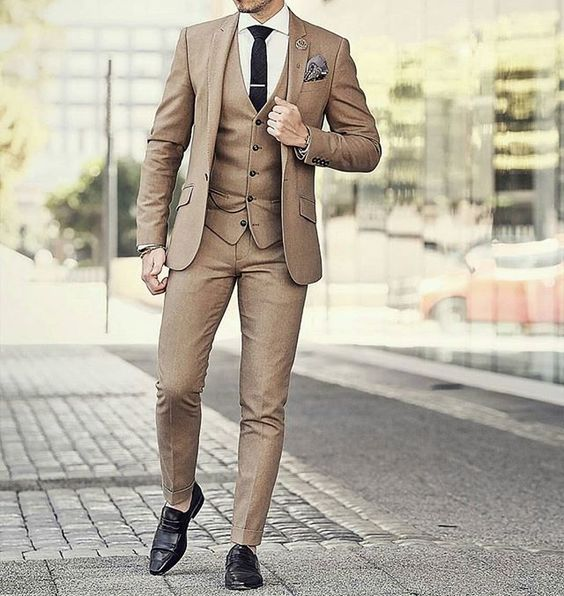 Three Piece Suit Wedding Coat Pant Colour For Marriage