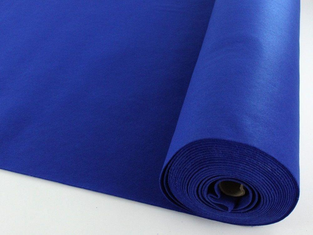 Filz, 3 mm, 90 cm breit, royalblau Filzen, 90er und