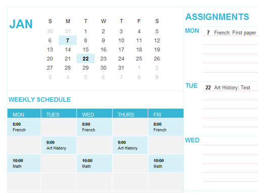 Student Calendar This Month StudentFocused Calendar Template