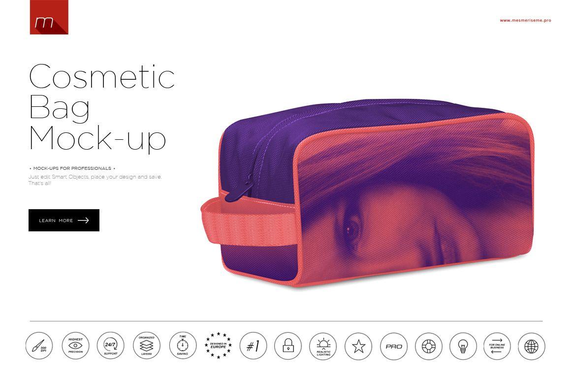 Cosmetics Bag Mock-up ~ Product Mockups on Creative Market ... 28ba646f3